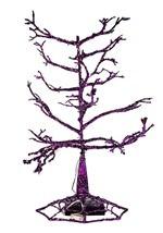 """14"""" Halloween Purple LED Tree Alt 1"""