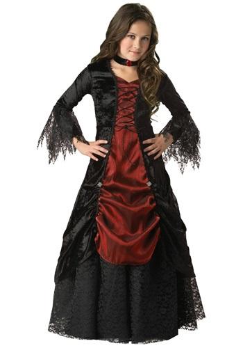 Gothic Vampira Costume for Girls
