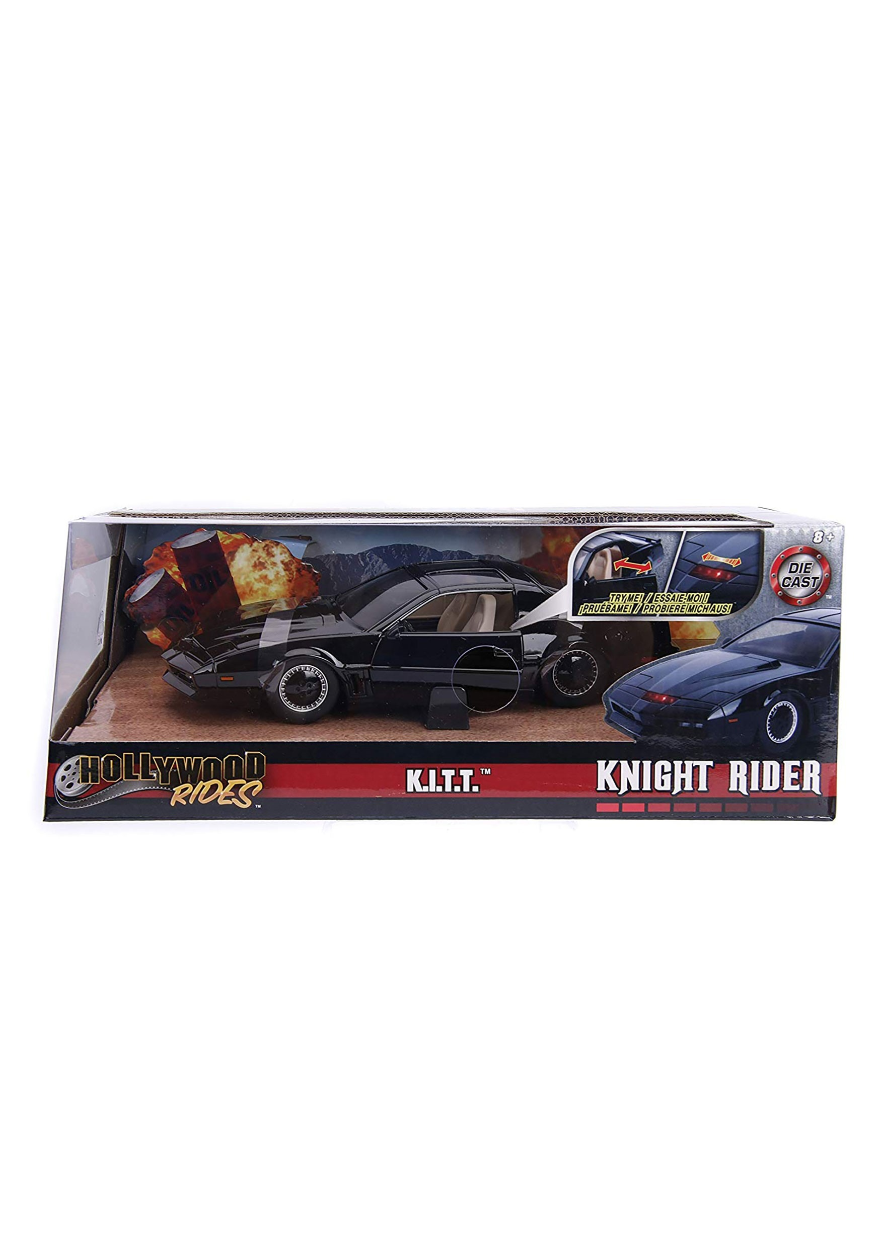 Knight Rider Car For Sale >> Hollywood Rides K.I.T.T. Knight Rider 1:24 Die Cast Vehicle w/ Light
