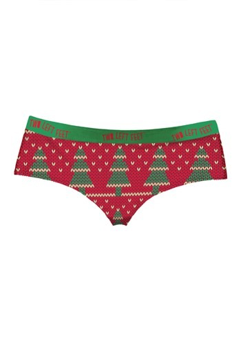 Two Left Feet 'Knit Wit' Christmas Trees Women's Hipster Und