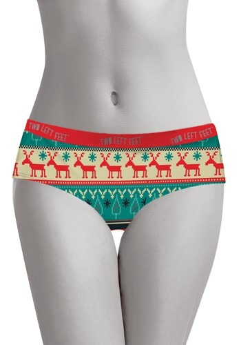 Two Left Feet 'Reindeer Xing' Christmas Women's Hipster Unde