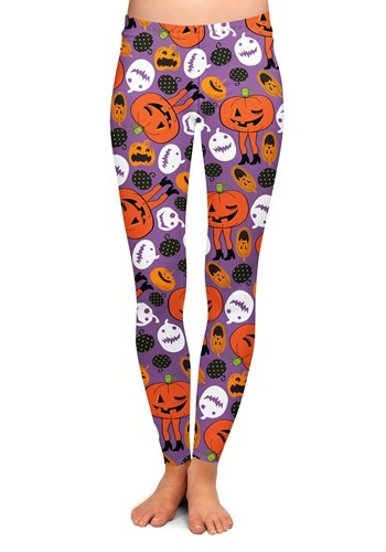 Two Left Feet Attack of the Pumpkins Women's Leggi