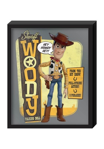Toy Story Woody 12 5 x 15 25 Molded Shadowbox Wall Art