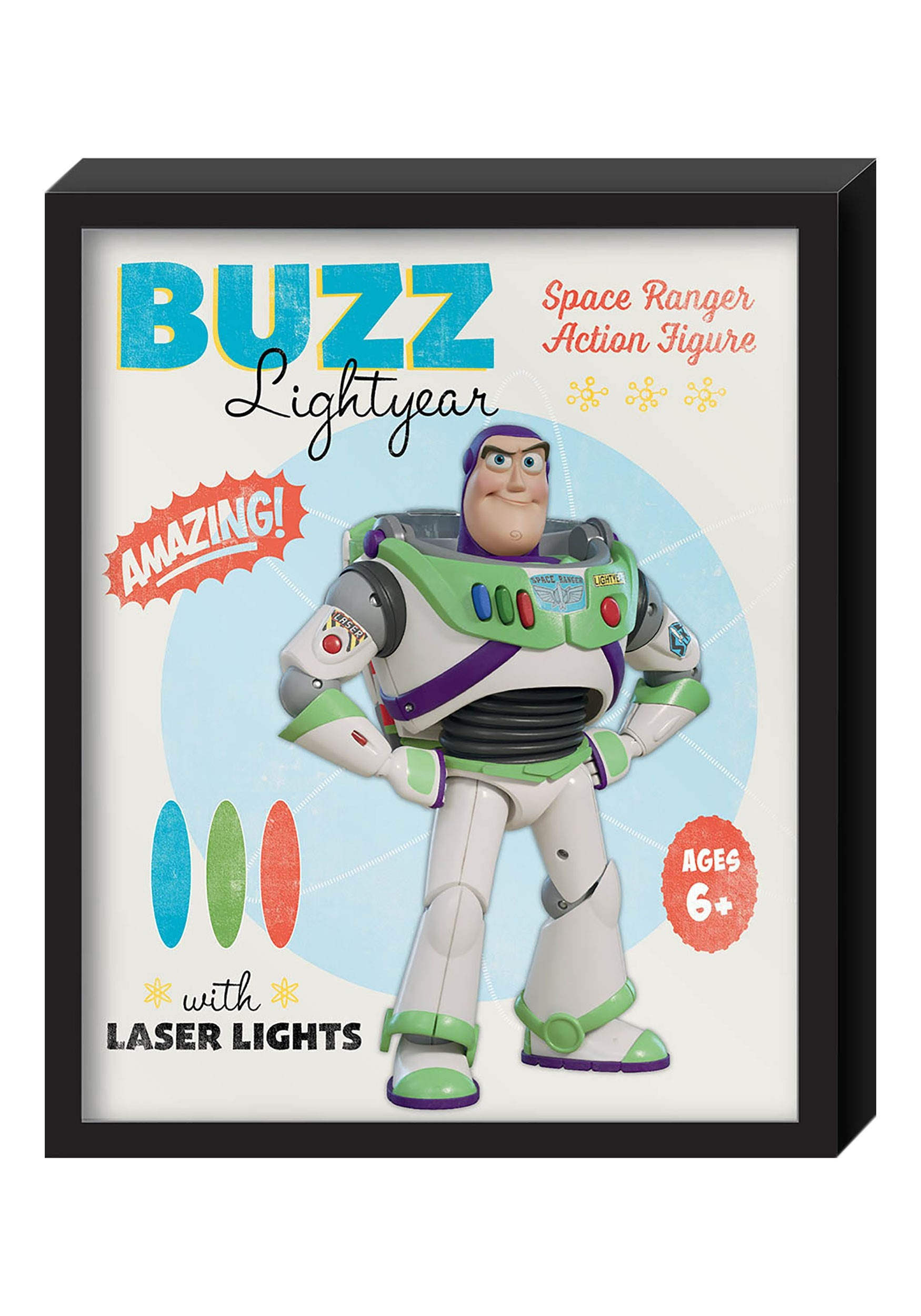 Toy story buzz lightyear molded shadowbox wall art 125x15