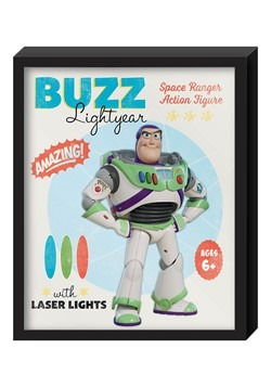 "Toy Story Buzz Lightyear Molded Shadowbox Wall Art 12.5""x15."