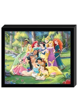 "Disney Princesses Group Molded Shadowbox Wall Art 12.5""x15.2"