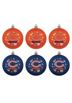 Chicago Bears Shatterproof Ornament 6 Pack Set