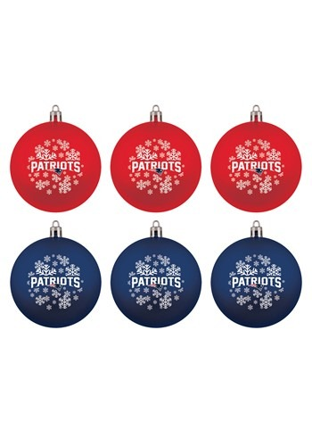 New England Patriots Shatterproof Ornaments 6 Pack