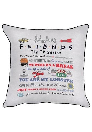 Friends Quotable Decorative Pillow Cover