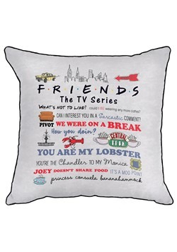 Friends Quotable Decorative Pillow Cover