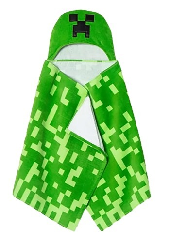 "Minecraft 24""x50"" Hooded Towel1"
