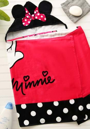 Girls Minnie Mouse Hooded Towel UPD
