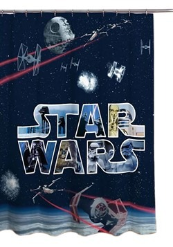 STAR WARS CLASSIC SPACE BATTLE MF SHOWER CURTAIN