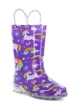 Rainbow Unicorn Lighted Purple Rainboot