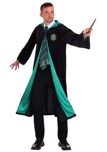 Harry Potter Adult Plus Size Deluxe Slytherin Robe