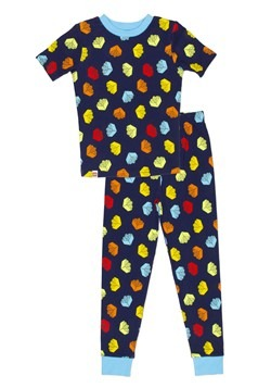 Boys Navy LEGO Brick 2 Piece Cotton Sleep Set