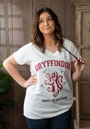 Gryffindor Womens Plus V Neck Tee