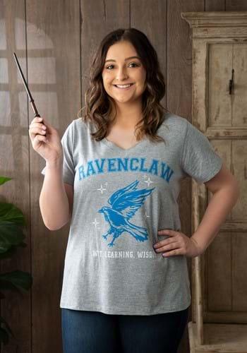 Ravenclaw Womens Plus V Neck Tee