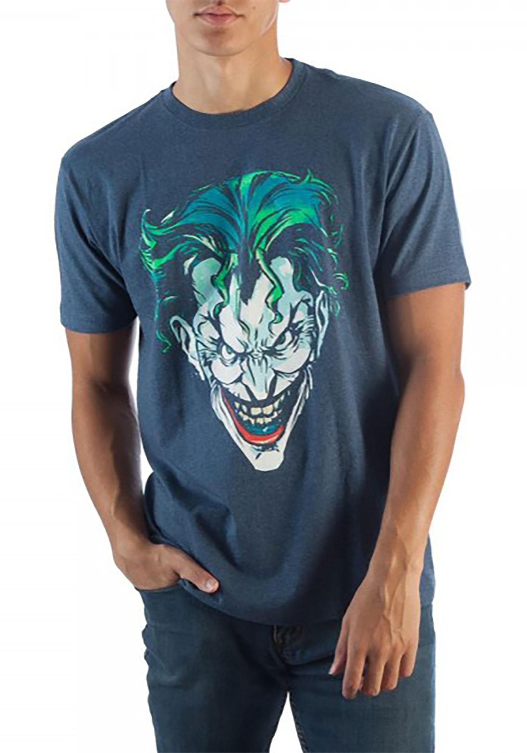 Men's Batman Joker Face Navy Tee
