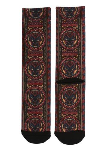 Black Panther Tribal Print Sublimated Socks