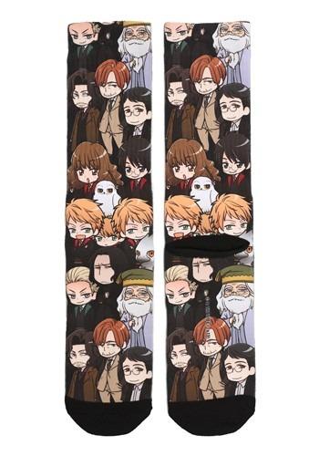 Chibi Harry Potter Characters Sublimated Socks