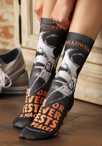 Halloween Movie Poster Sublimated Socks update