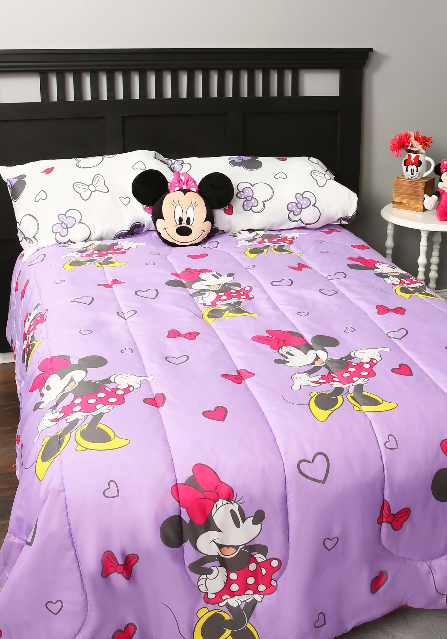 Minnie Mouse Purple Love Full Bed In A Bag
