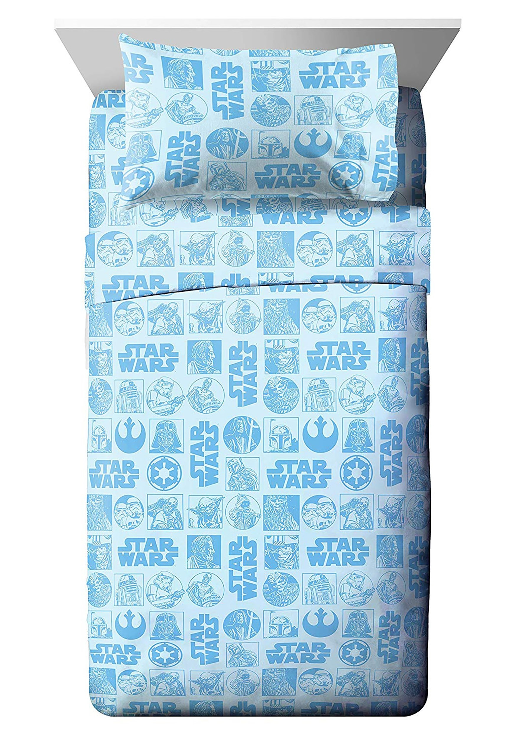 Galactic Grid Star Wars Twin Size Bed In A Bag