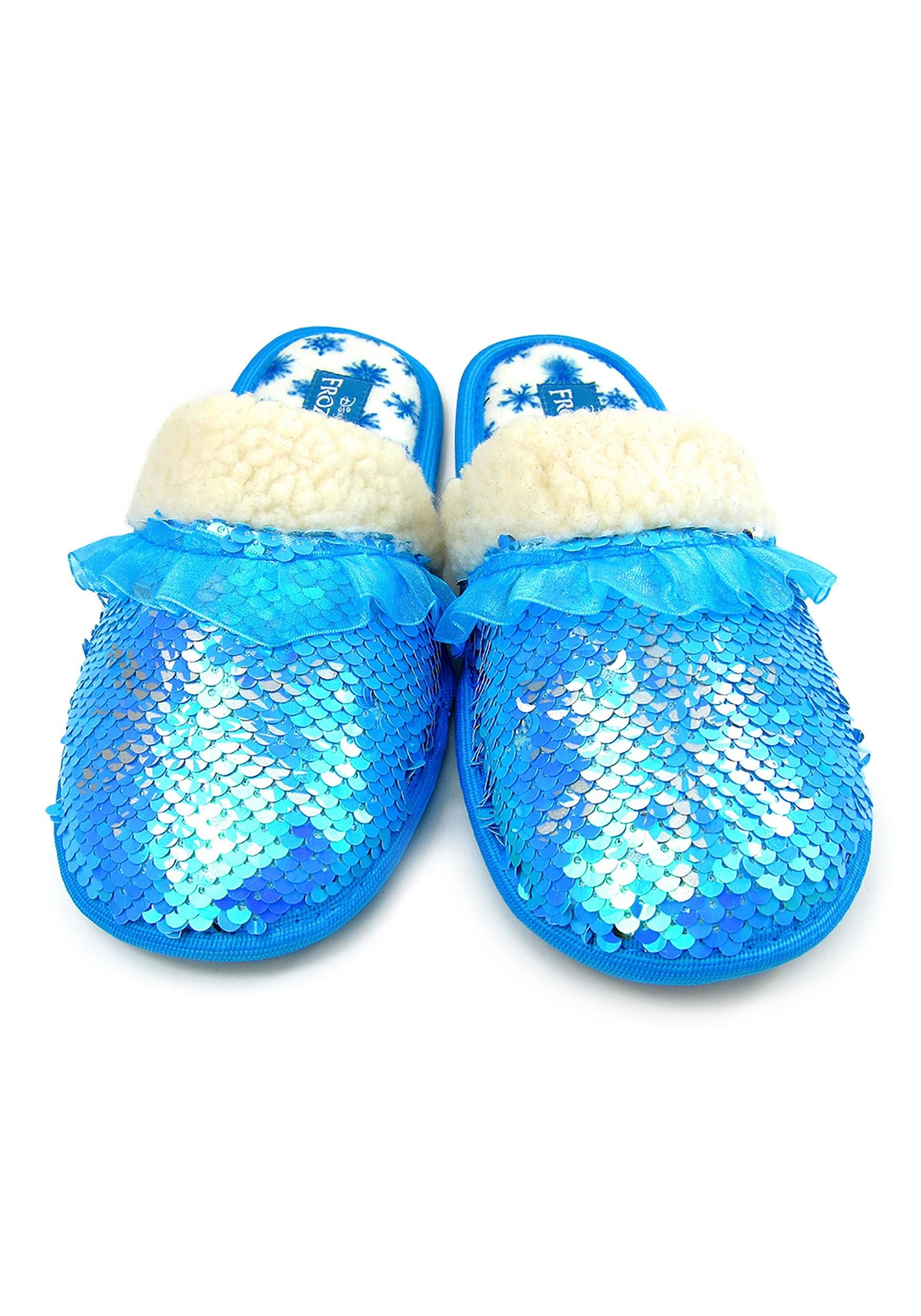 Frozen 2 Elsa Reverse Sequin Slippers