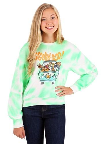Juniors Scooby Doo Neon Swirl Dye Cuffed Longsleev