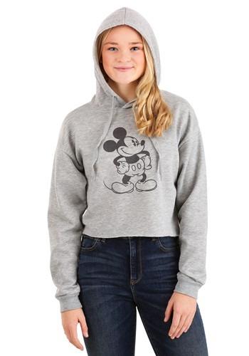 Juniors Mickey Mouse Raw Edge Skimmer Hoodie