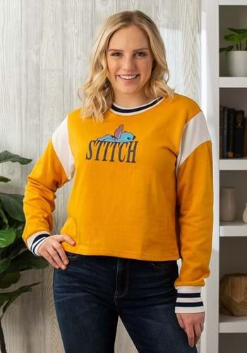 Juniors Disney's Stitch Yellow Skimmer Crew Pullover-Update