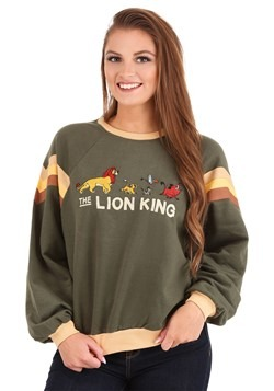 Juniors The Lion King Raglan Contrast Ringer Sweat