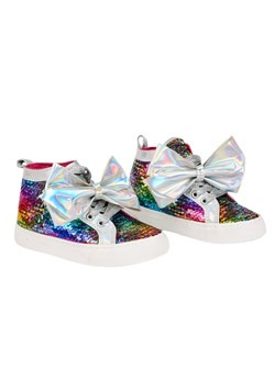 Jojo Siwa Rainbow Sequin Bow Girls Sneaker