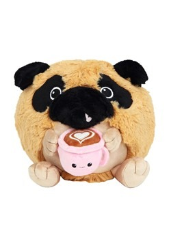 "Squishable 7"" Pug Holding a Mug"