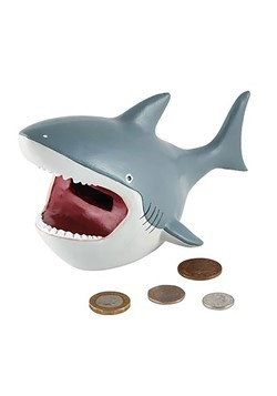 Deep Sea Shark Resin Money Bank