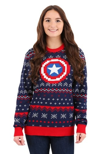 Adult Marvel Captain America Ugly Christmas Sweater