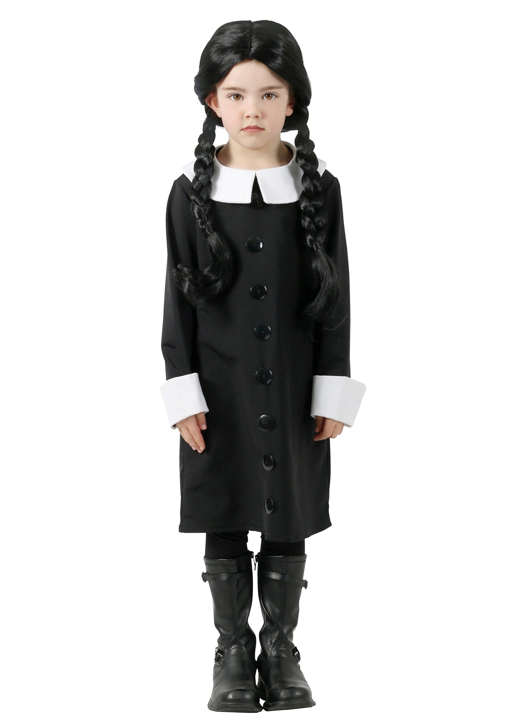 Addams Family Wednesday Addams Costume For Kids