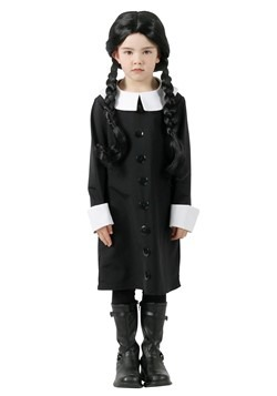 Kids Addams Family Wednesday Addams Costume