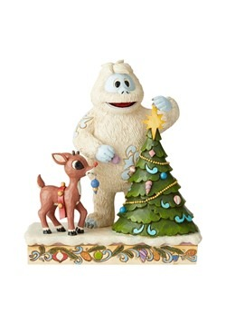 Rudolph the Red-Nosed Reindeer and Bumble with Tree by Jim S