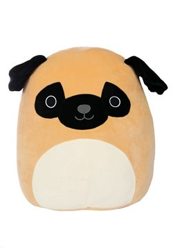 "Squishmallow Prince the Pug 16"" Plush"