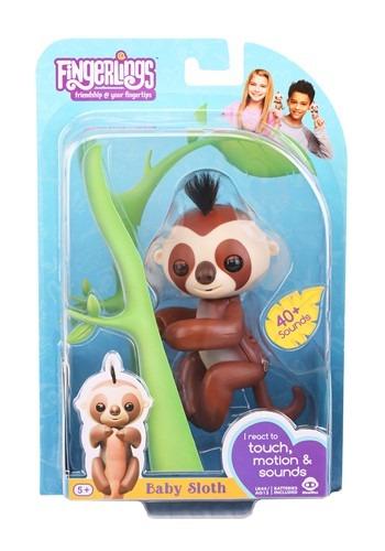 Fingerlings Baby Sloth Kingsley Brown Toy