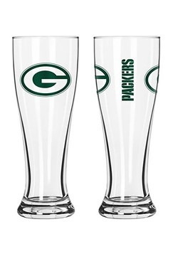 Green Bay Packers 16 oz Pilsner 2 Pack