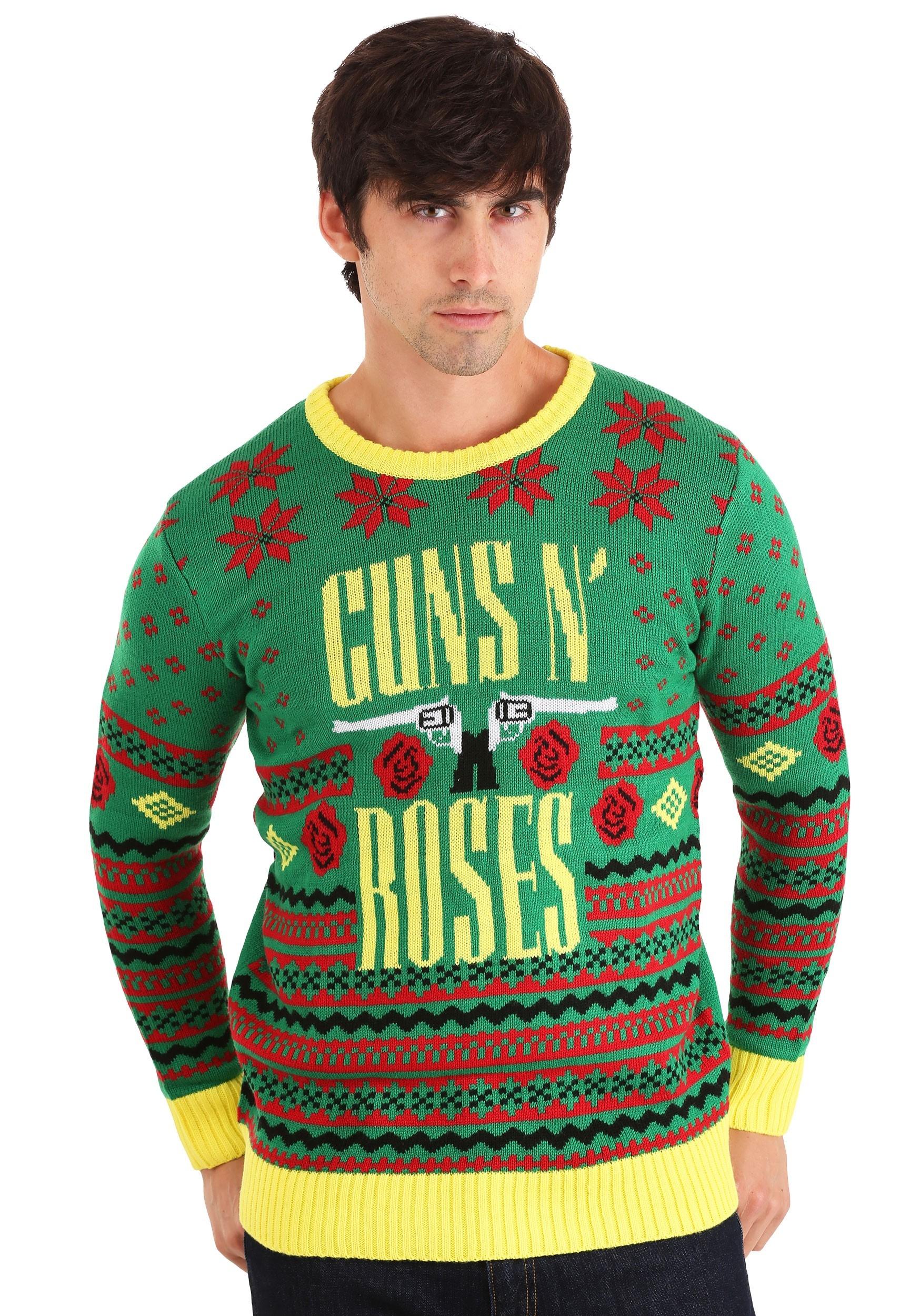 GUNS N ROSES Ugly Big Guns Christmas Sweater