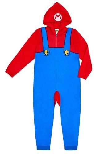 Mario Boys Hooded Union Suit Costume