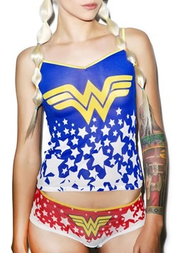 Wonder Woman Cami and Hipster Mesh Sleep Set