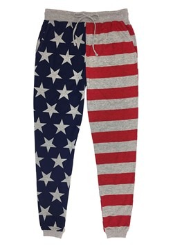 Stars & Stripes Drawstring Heather Gray Joggers