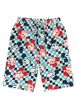 Mens Mickey Mouse Checkered Drawstring Sleep Shorts