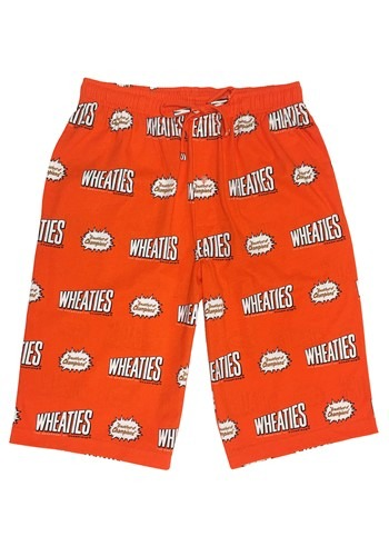 Men's Wheaties Orange Drawstring Sleep Shorts
