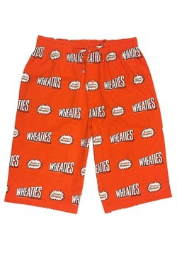 Men's Wheaties Orange Drawstring Sleep Shorts